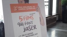 La sixième édition du Prix collégial du cinéma québécois a permis à 55 cégeps à travers la province de visionner cinq films produits dans la dernière année. Photo: Étienne Bonenfant.