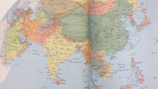 Une carte de l'Asie qui contient le Vietnam et la Turquie.