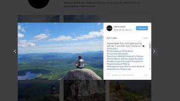 Chargée de projets web et réseaux sociaux, Marie-pier Houde partage sur Instagram les plus beaux coins de la région de Charlevoix.