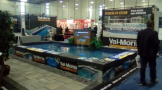 L'équipe de Piscines Val-Morin Signature a offert un prix d'entrée à chaque participant pour le tirage d'une piscine creusée.