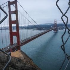 Battery spencer, San Francisco. L'un des pires endroits de mon road-trip. Près de 4 heures dans ma voiture pour avoir cette vue sur le Golden Gate bridge. Trop de monde, trop d'autos, trop de vent, trop de nuages. Par chance que c'était sur notre chemin. La vie urbaine semblait être plutôt bien, par contre.