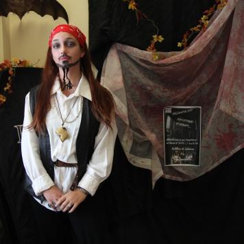 Premier prix : Bianca Farinaccio, déguisée en Jack Sparrow.