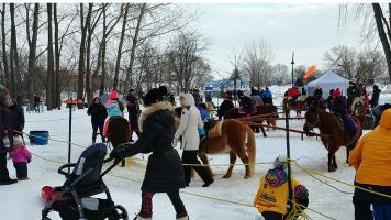 Le carrousel de poneys étaient l'activité la plus populaire auprès des enfants et se situait à l'entrée du site.