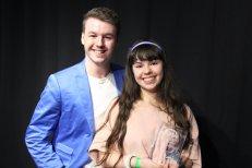 Prix Distinction Danse : Gabrielle Dégarie accompagnée du responsable du groupe, Maxime St-Jules.