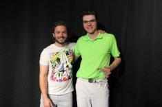 Prix Distinction des cours de musique : Alexandre Carrière, accompagné de son prof de guitare, David Lecour.