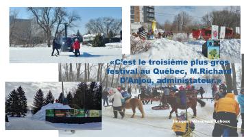Une des activités la plus demandé était l'hélicoptère. Présente toute la journée, il était possible de faire un petit tour en suivant bien les consignes de l'animateur. Le Festival feu et glace offrait plusieurs festivités dont celle-ci, le 18 février.
