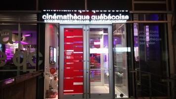 La Cinémathèque illuminée le soir durant le 5 à 7. Photos: Samuel-François Turpin.