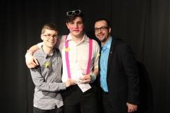 Prix Leadership : Samuel Venosa (centre) accompagné de Adam Varin (gauche) et de Maxime Houle (droite).