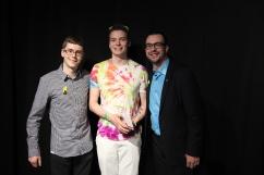 Personnalité masculine de l'année : Frédérick Lanthier (centre) accompagné de Adam Varin (gauche) et de Maxime Houle (droite).