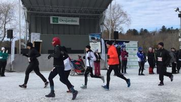 Des participants ont commencé leur course.