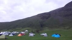 11 juin: Camping de Svinafell | La vue était magnifique, les installations adéquates, je n'ai absolument rien à dire de mal sur ce camping. 10/10 Photo: Maude Guimond.