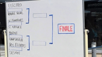 De rudes adversaires en compétition. Seules les deux meilleures équipes se rendent en finale. Photo: Naomy Thériault.