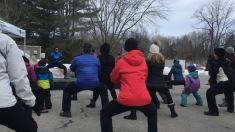 Nombreux Mascouchois se sont rejoints de 10 h 30 à midi, au parc du Grand-Coteau, à l'entraînement Cardio Plein Air dans le cadre du Défi Santé.